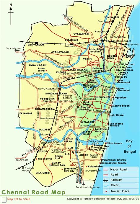 Printable Chennai Road Map | chennai road map chennai road map india
