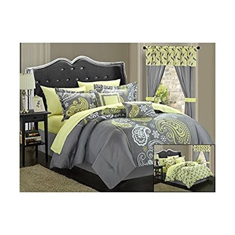 chic home 20 piece olivia paisley print reversible