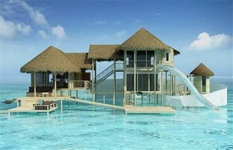 house maldives waterslide cottage the maldives architecture