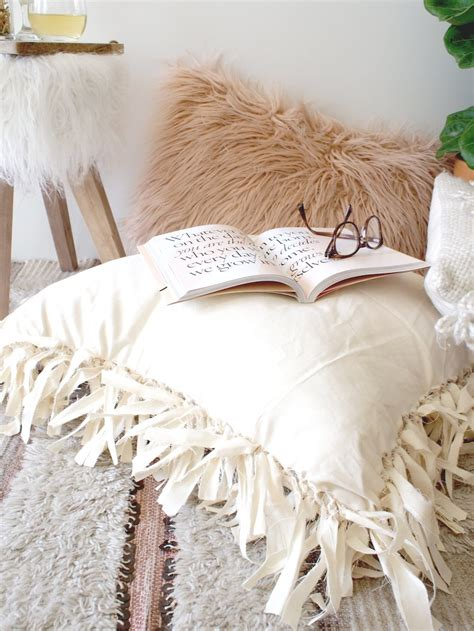 how to make floor pillows get your home ready for fall with this no sew floor pillow