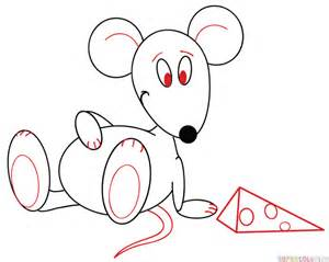 draw cartoon mouse step step drawing tutorials