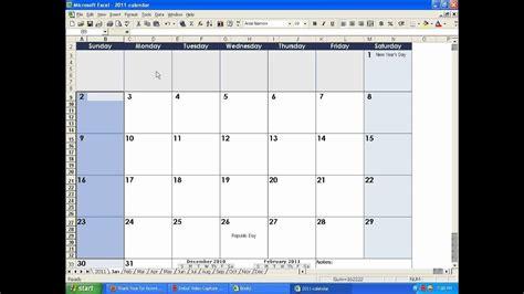 How To Make A Calendar In Excel Youtube Iphoto Calendar Templates