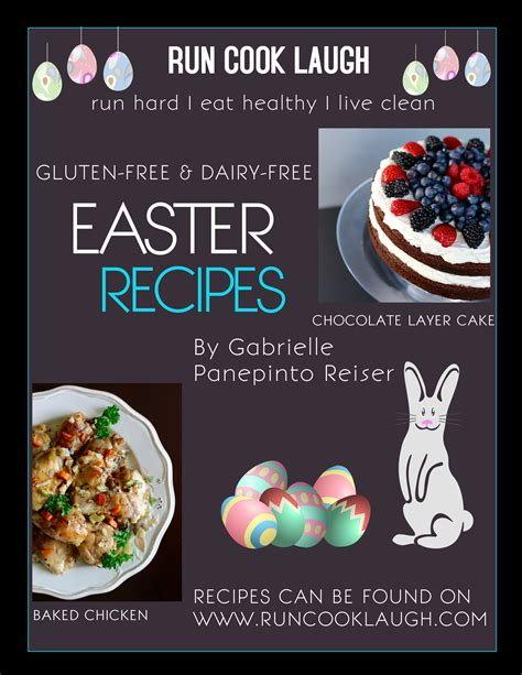 printable easter recipes easter recipes by gabrielle panepinto gluten free dairy