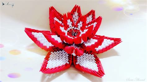 paper flower origami 3d model how to make 3d origami flower 4