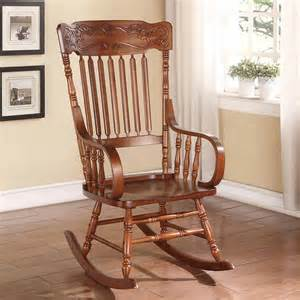 living room rocking chairs kloris collection transitional living room rocking chair wood tabacco curved arm ebay