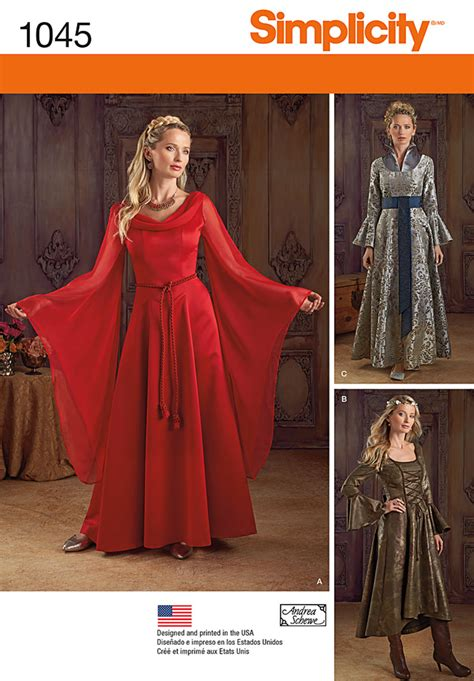 patterns sewing costumes simplicity 1045 misses fantasy costumes