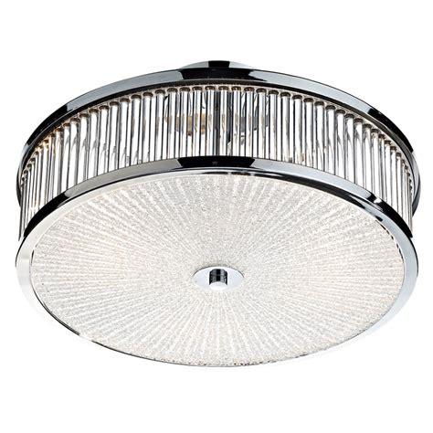 3 bulb ceiling light fitting dar lighting aramis 3 light glass flush ceiling light