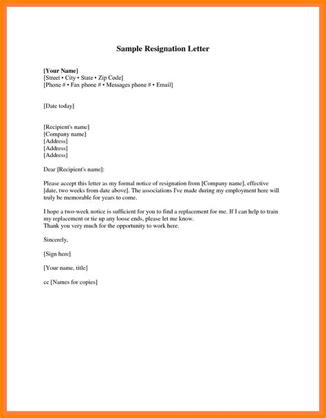 Resignation Letter Cover Resign Letter 1 Week Notice Resignation Letter Without Giving Two Weeks Notice Cover Of Png