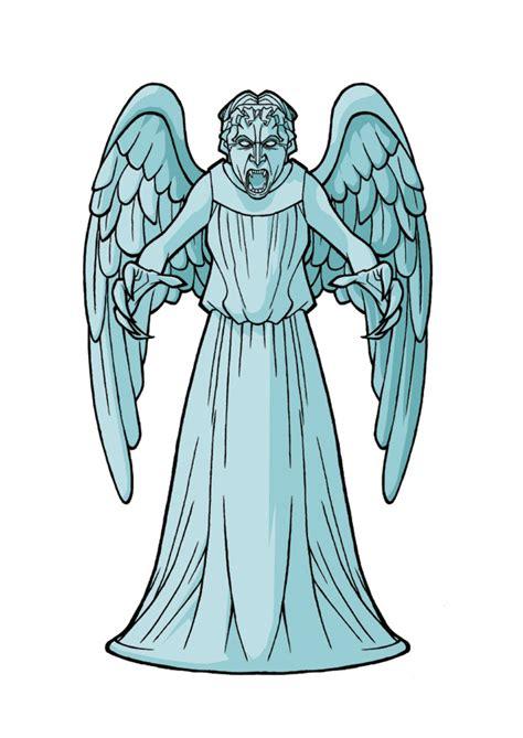 weeping angel coloring page weeping angel by jackademus on deviantart