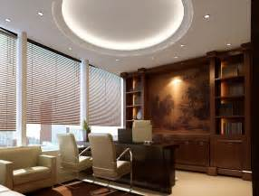 Interior design for general manager office reception area with modern