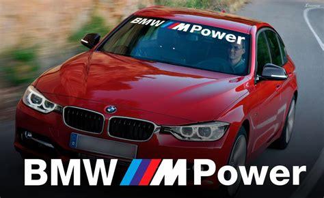 bmw m power windshield banner window decal sticker for m3