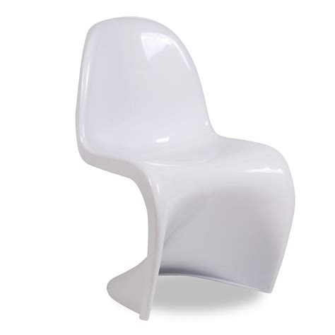 Chaises Panton by Lot De 4 Chaises Panton Blanc Werner Panton Brillant