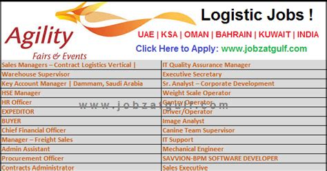 design management jobs uae logistic jobs at agility uae ksa oman bahrain