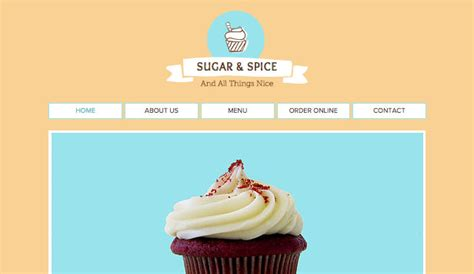 Cafe Bakery Website Templates Restaurants Food Wix Baking Portfolio Template