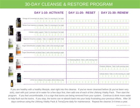 30 Day Detox Cleanse And Restore by Wellness Class 2 Cleanse Restore Jade Balden