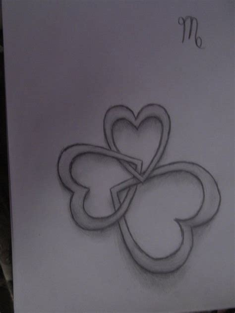 tattoo designs letters intertwined 3 hearts interlocking hearts my style