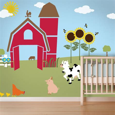 Farm Wall Mural Stencil Kit For Kids Room Or Baby Nursery Wall Mural Templates