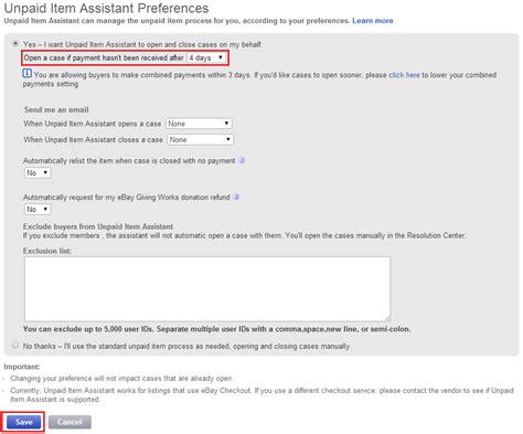 ebay unpaid item case permanently block ebay bidders for future auctions buy