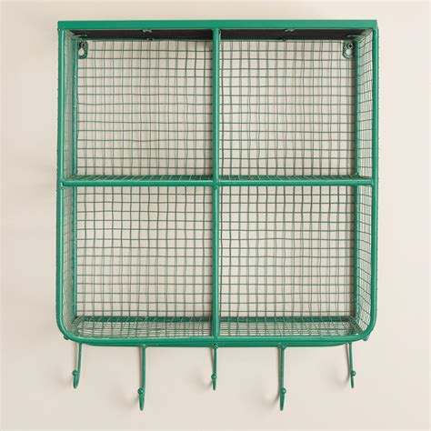 square baskets for shelves square wire braedyn 4 bin wall storage world market