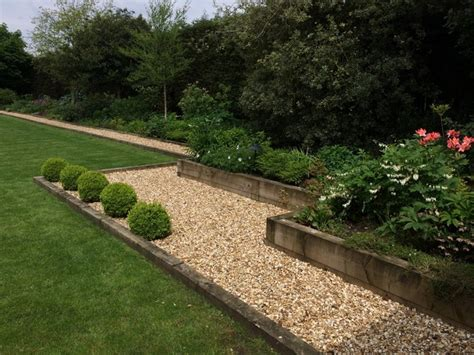 Railway Sleepers Hshire by Large Railway Sleeper Garden In Cheshire