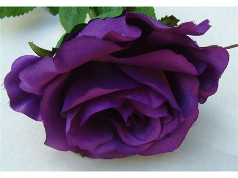 artificial cm single elegance purple rose permabloom
