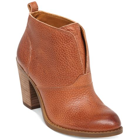 lucky brand s ehllen booties in brown toffee lyst