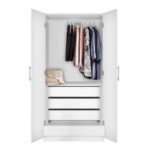 4 Door Wardrobe Closet by Alta Wardrobe Closet 2 Doors 4 Interior Drawers