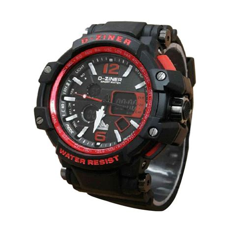 G Shock Dual Time D 3821 Hitam List Orange jam tangan adidas sport digital jam simbok