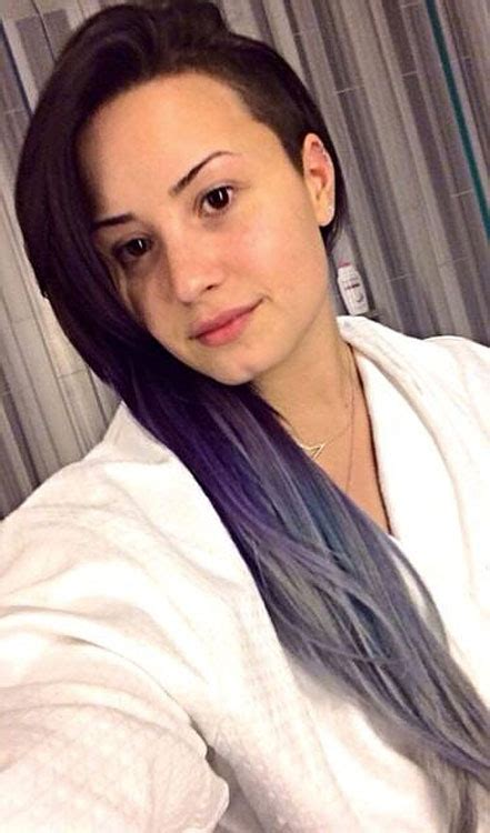 demi lovato inspired pink purple dip dye ombre hair demi lovato straight dark brown dip dyed side part tri
