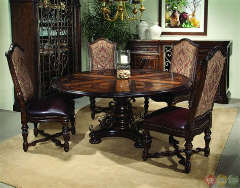 round table dining room sets valencia antique style round table dining room set