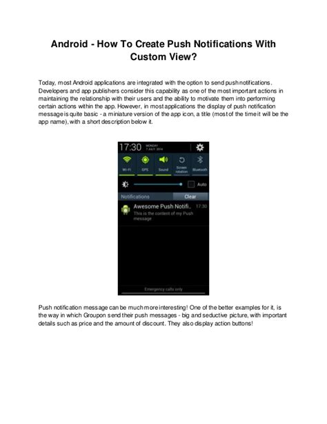 android push notifications how to create android push notifications with custom view