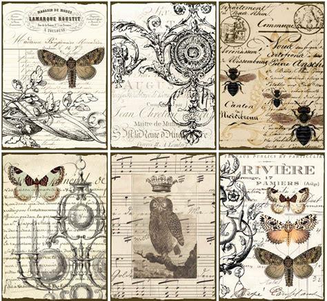 printable retro images digital dowloads vintage ephemera tags paper owl