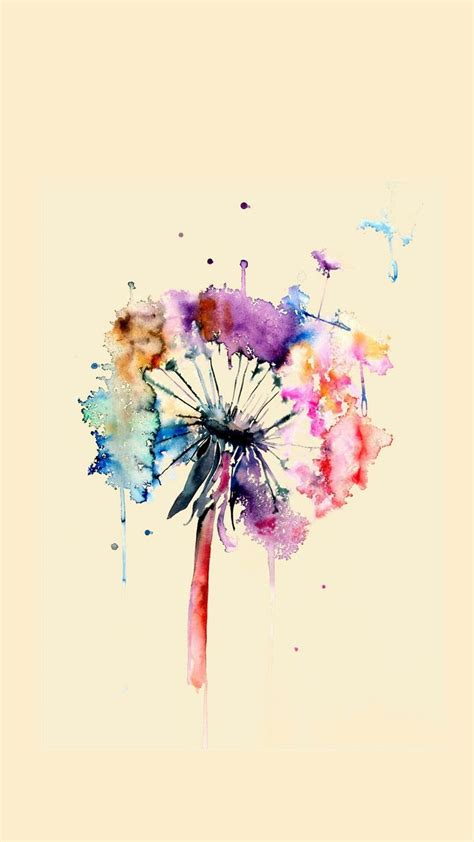 watercolor tattoo dandelion 65 best wallpaper images on backgrounds