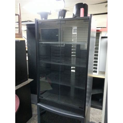 black cabinet with glass doors black stereo cabinet with glass doors allsold ca buy