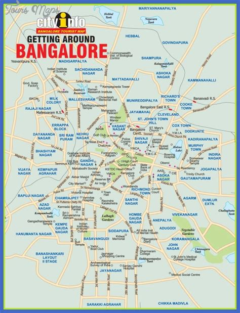 bangalore map tourist attractions toursmapscom