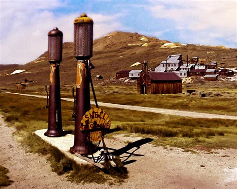Country Western Home Decor bodie ca ghost town painting by bob and nadine johnston