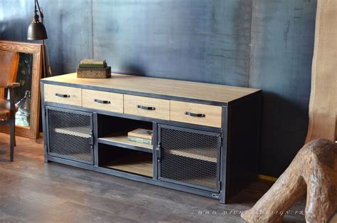 Meuble Type Industriel mobilier de style industriel micheli design