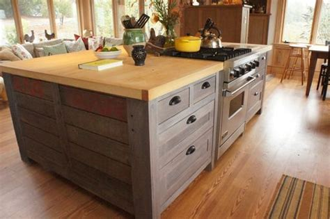 hand crafted rustic kitchen island  atlas stringed