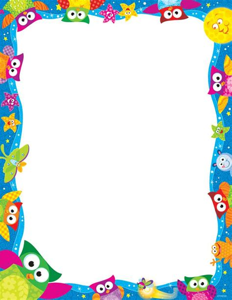 printable owl border paper free owl borders download free clip art free clip art on