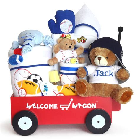 Baby Shower Welcome Wagon by Gift For Baby Boy Deluxe Personalized Welcome Wagon