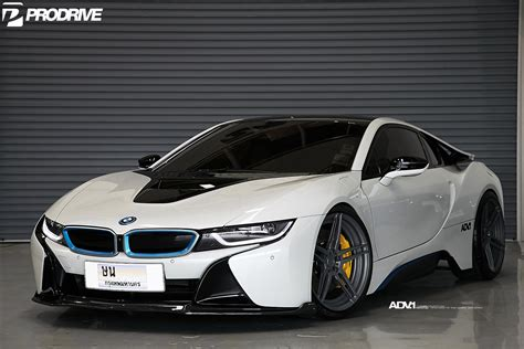 bmw i8 pearl white bmw i8 with adv 1 wheels and