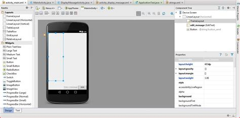 android studio how to get the layout width android layout issue with android studio