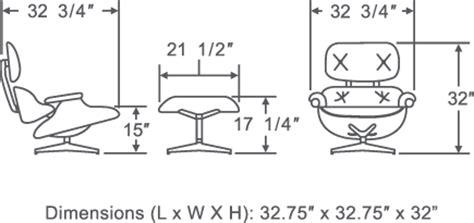 Eames Lounge Chair Dimensions by Eames Lounge Chair Replica Brown Manhattan Home Design