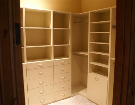 built in closet organizer with drawers shelves and