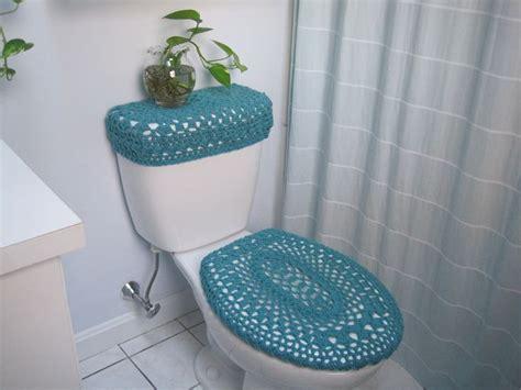 bede toilet set of 2 crochet covers for toilet seat toilet tank lid