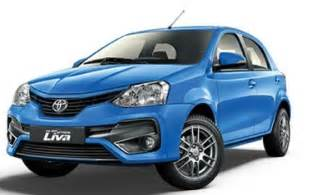 toyota new car price in india toyota etios liva price in india gst rates images