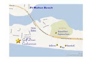 okaloosa island florida map gulf dunes 404 fort walton florida condo rental