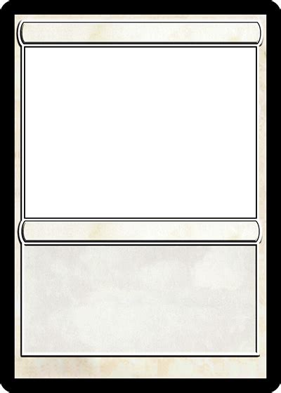 Blank Magic The Gathering Card Template by Magic Card Maker