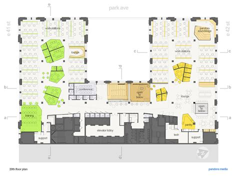 Plan Com | gallery of pandora media inc new york office aba studio
