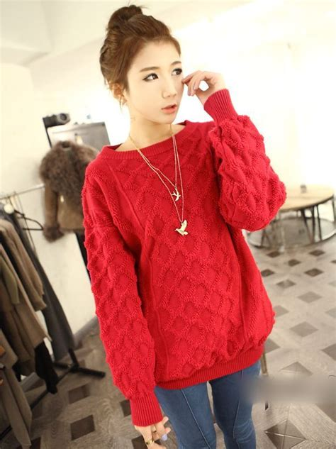 Sweater Korea Korean Style Solid Color Pullover Lantern Sleeve Sweater